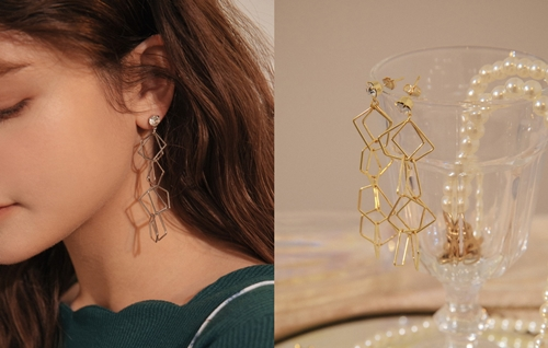 pazzo look/  幾何簍空造型耳環