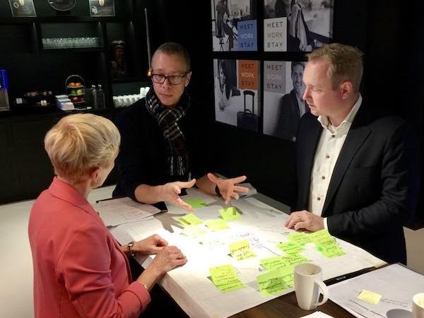 Strategiesessie Wendbare Innovatie Richting™: directeuren en hun managementteam ervaren in deze 1-daagse workshop van Gamechanger, hoe het is om te innoveren op een meer wendbare manier.