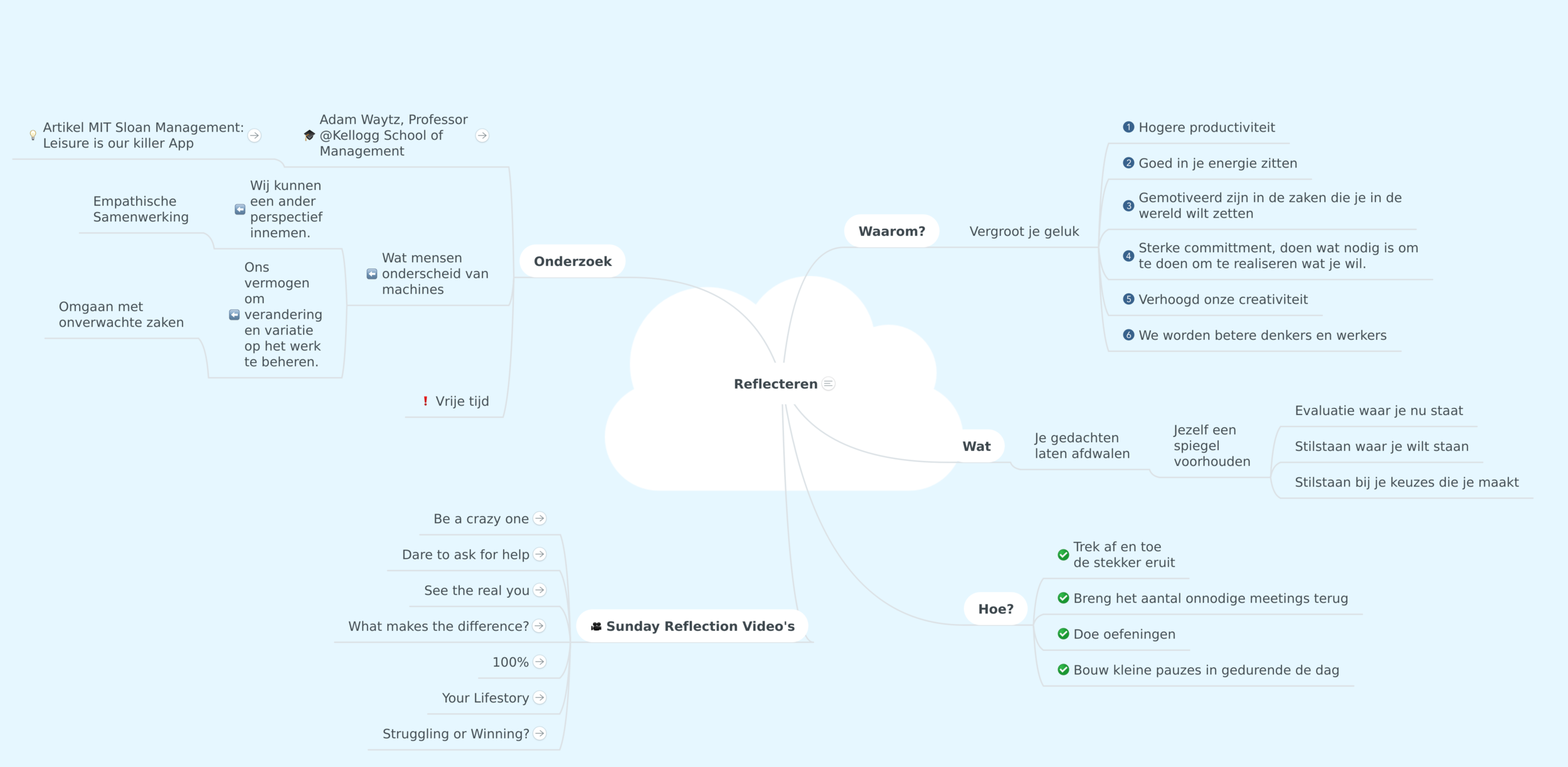 Mindmap Reflecteren