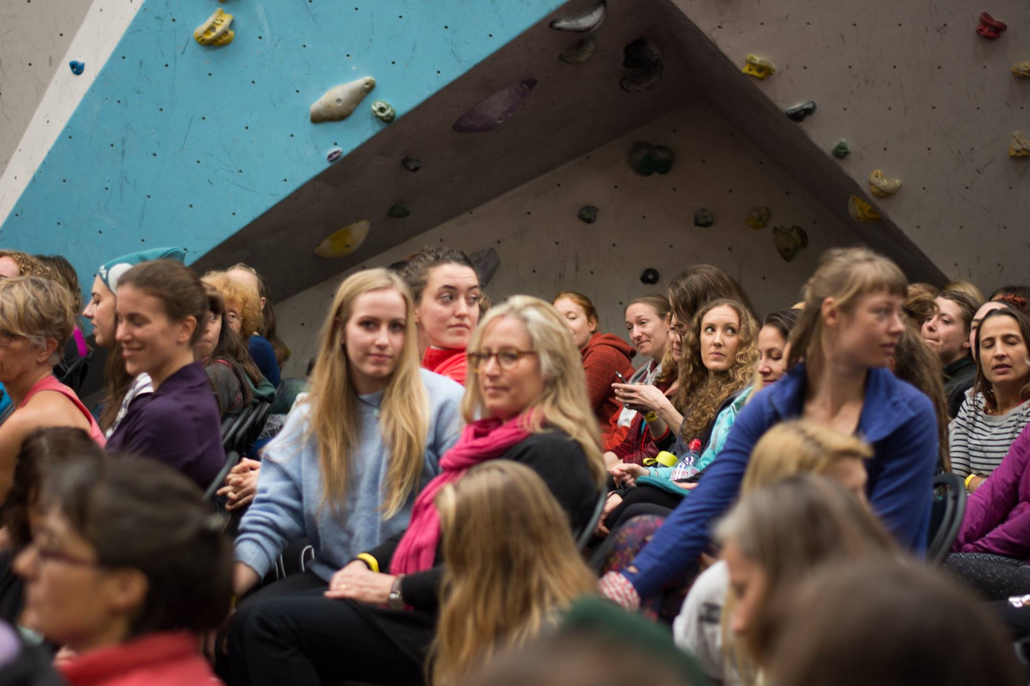 Surrounded by awesome at the Women's Climbing Symposium  //  photo by  Charlie Low