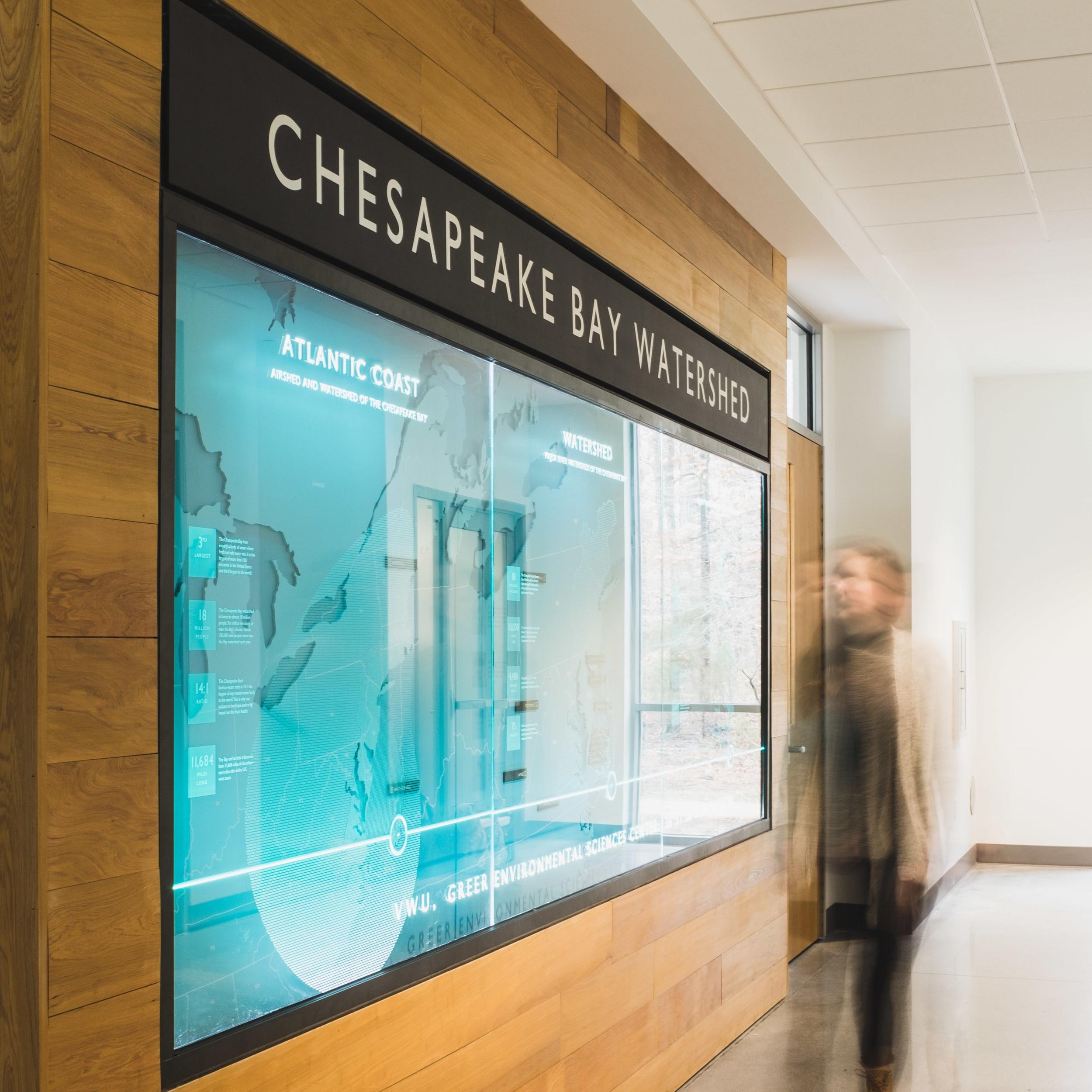 Greer Environmental Sciences Center  Wayfinding, Signage + Graphics