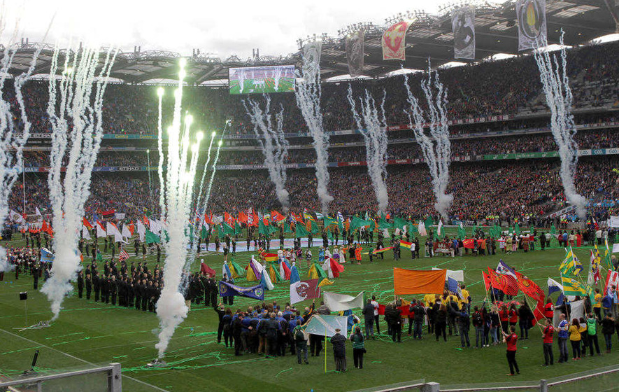 Centenary of the Easter Uprising at Croke Park - We designed a daylight pyrotechnic show that was integrated into the narrative of this large performance event, with 100's of volunteers and dancers on the pitch surrounded by pyrotechnics.This project involved many technical challenges including the rapid setting out of the show at the end of a sporting event.