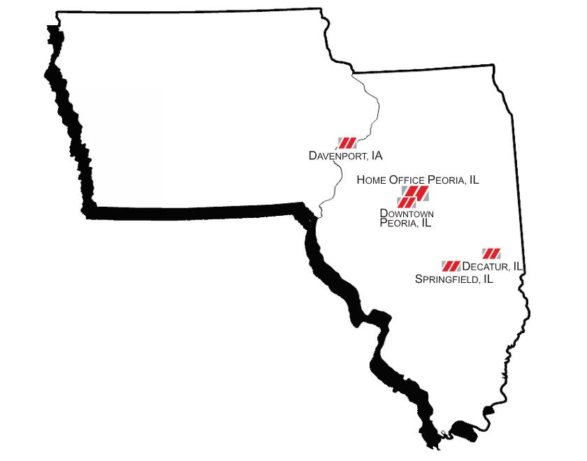 5 Locations - Serving Central Illinois & Iowa