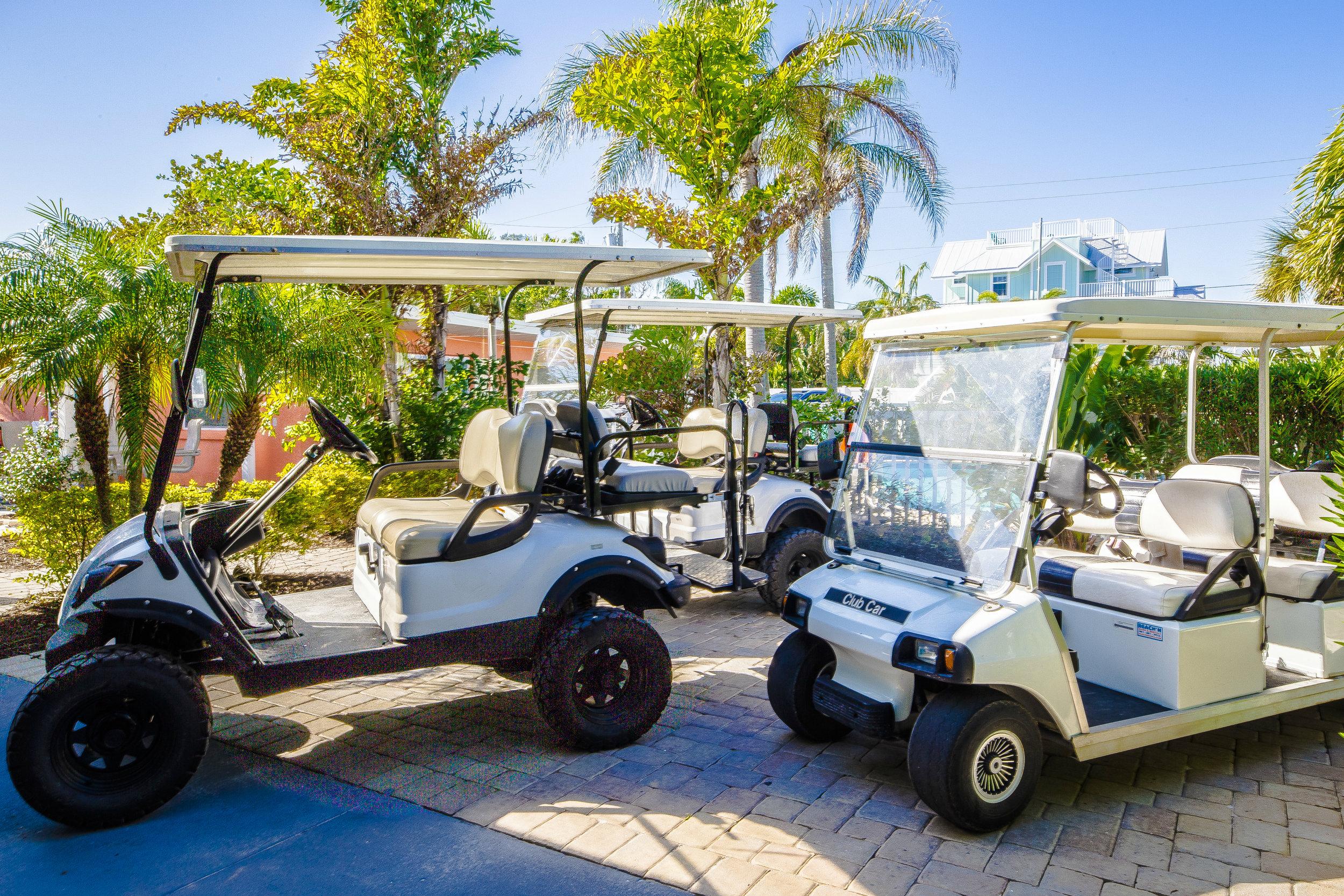 Three Custom Golf Carts!