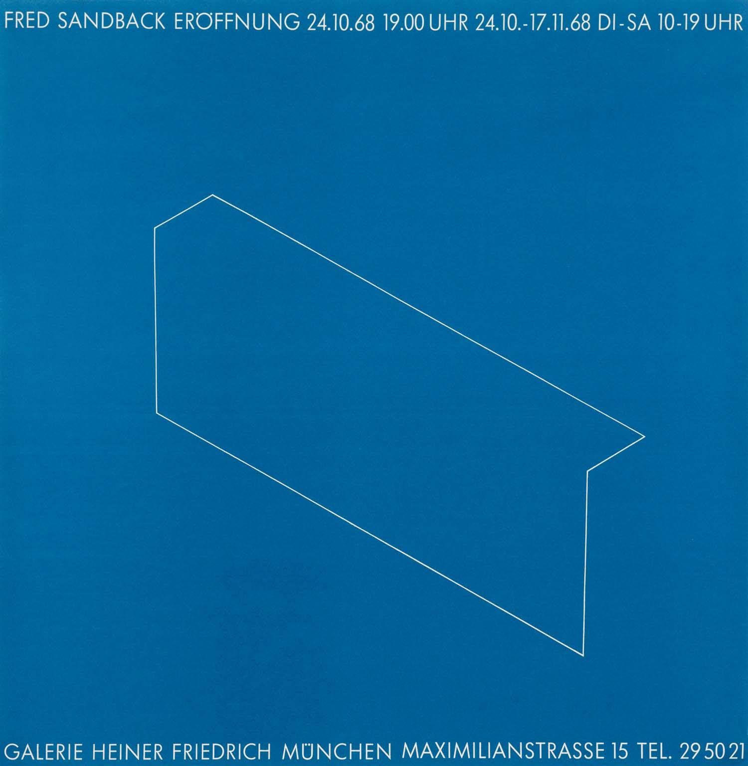 Galerie Konrad Fischer, Dusseldorf, poster