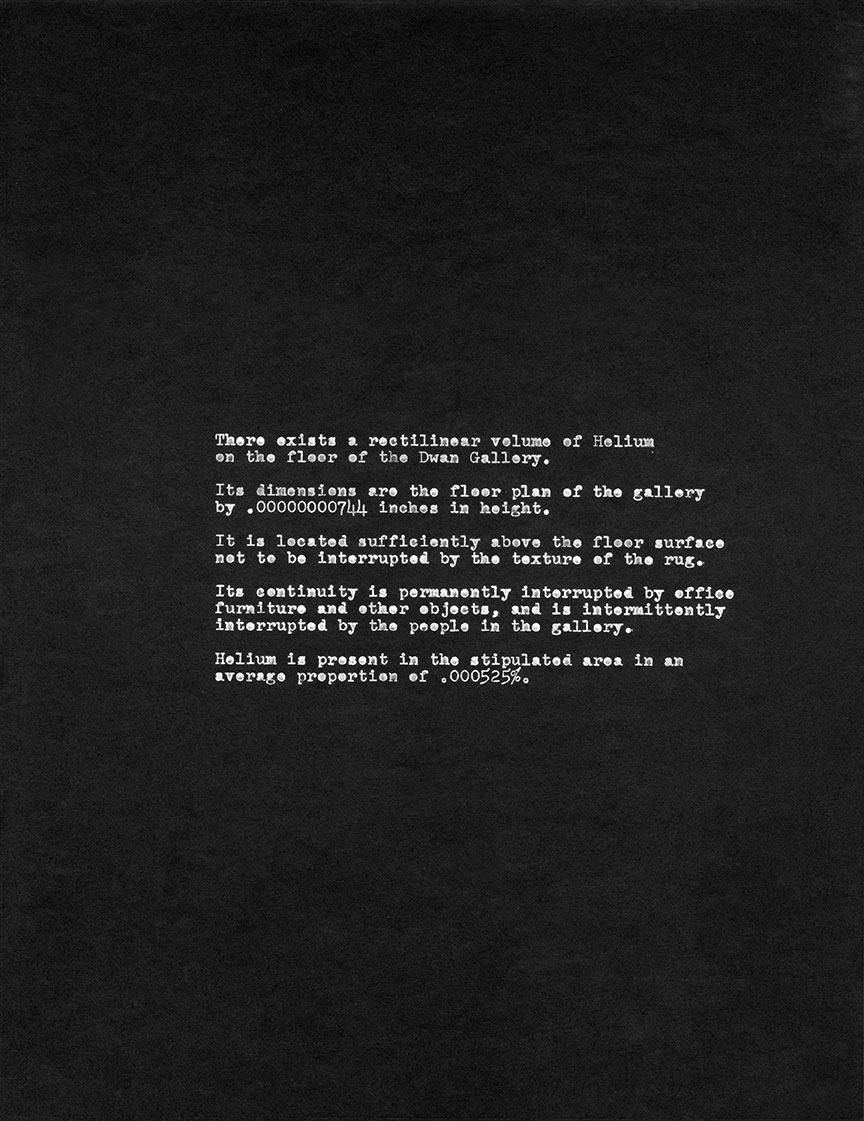 <i>Eight-part Sculpture for the Dwan Gallery <br/>(Conceptual Construction)</i>, 1969, shown in <br><i>Language III</i>, Dwan Gallery, New York