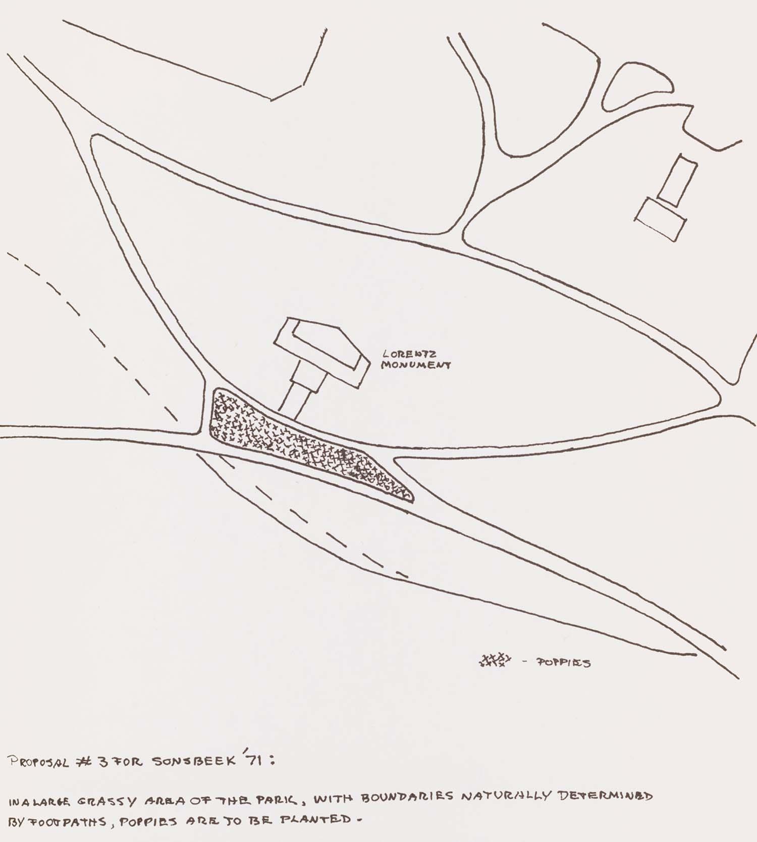 <i>Sonsbeek 71</i>, Arnhem, proposal