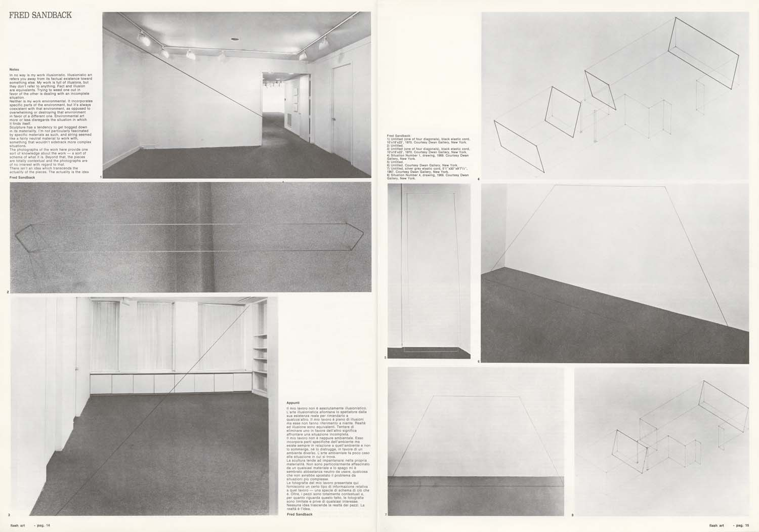 """Notes,"" <i>Flash Art</i>, June 1973"