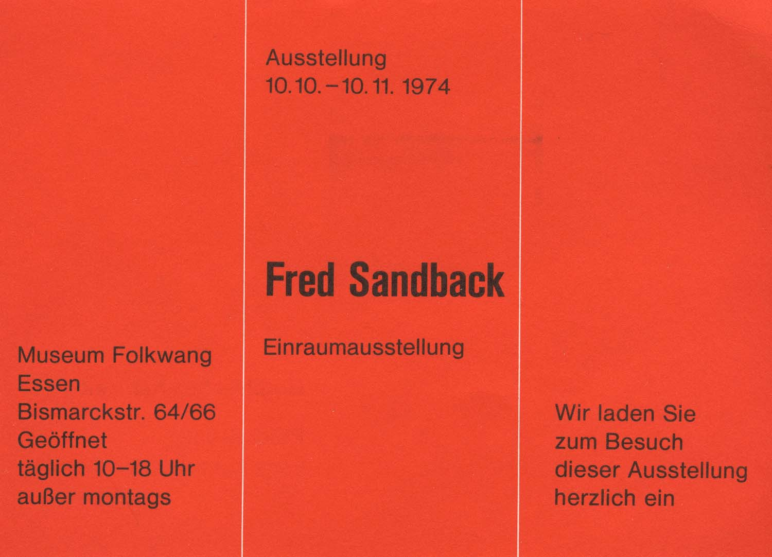Museum Folkwang, Essen, invitation card