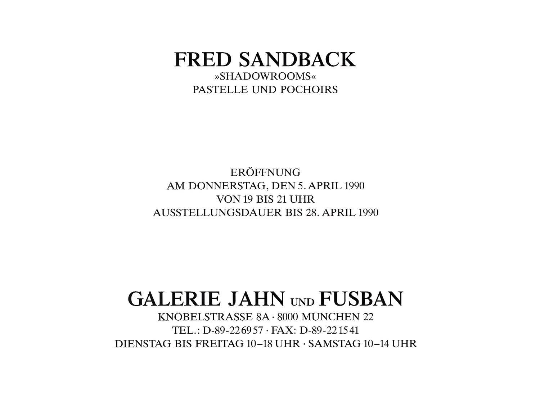 Galerie Jahn und Fusan, Munich, invitation card