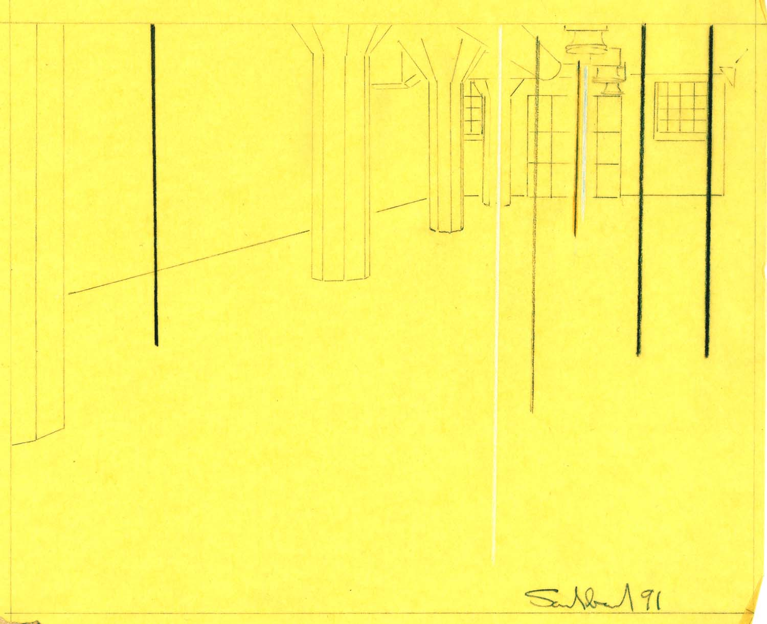 Magasin 3, Stockholm, exhibition drawing