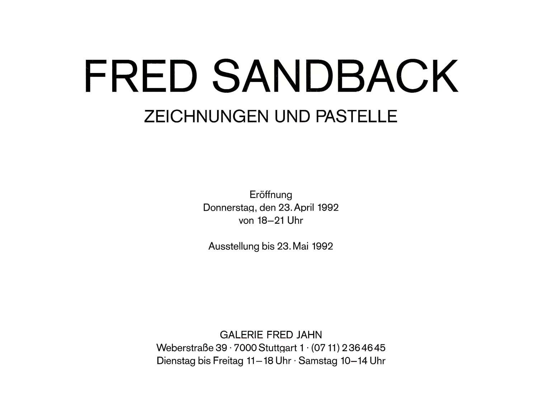Galerie Fred Jahn, Munich, invitation card