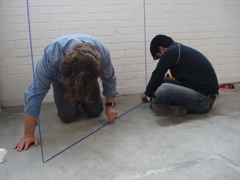 Jensen Gallery, Auckland, during installation
