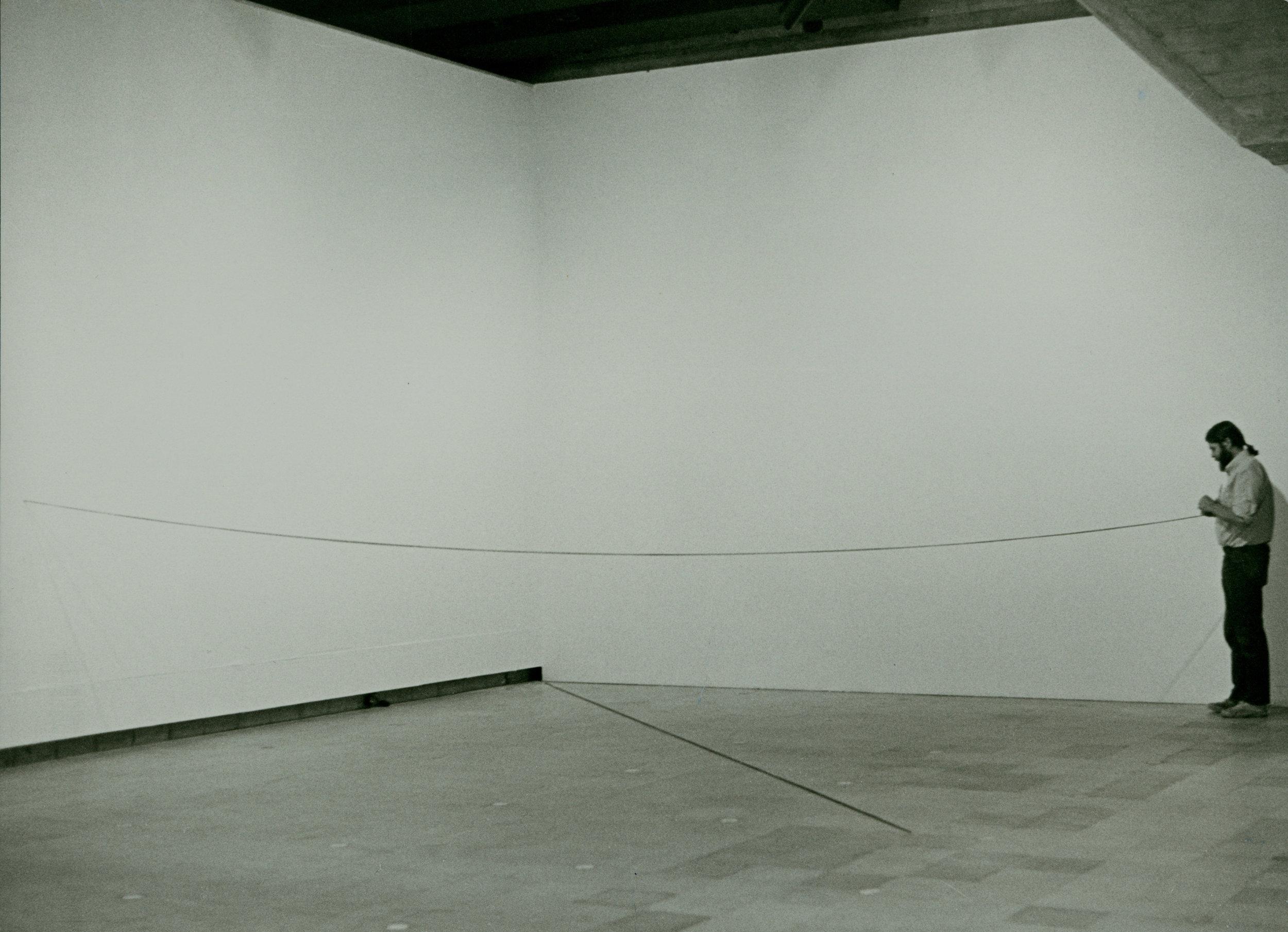 Sandback installing at the Hayward Gallery, London.