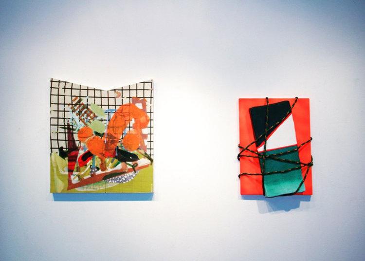 (Right) Installed at UW Sheboygan Fine Arts Gallery