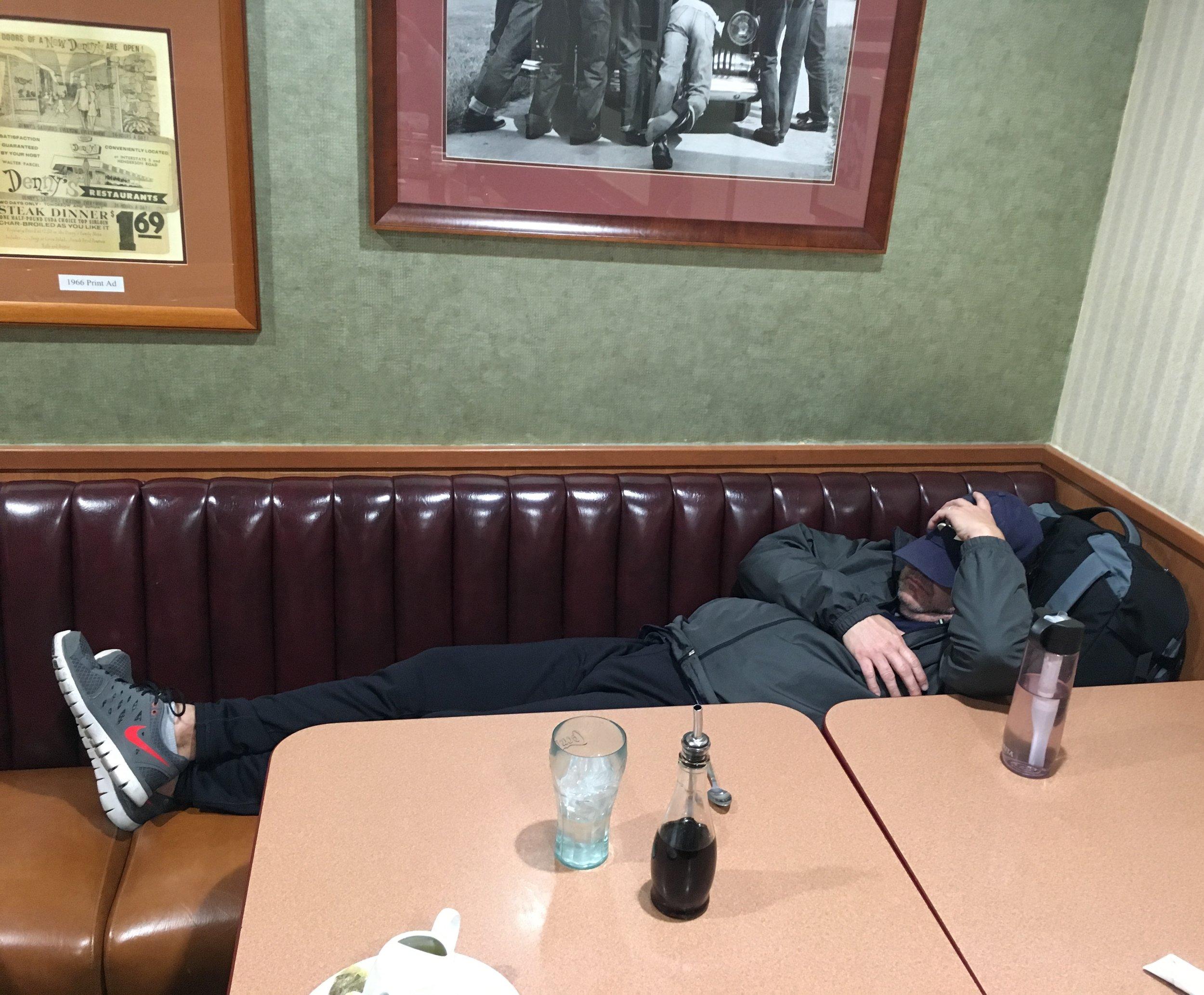 steve sleeping at Dennys.JPG