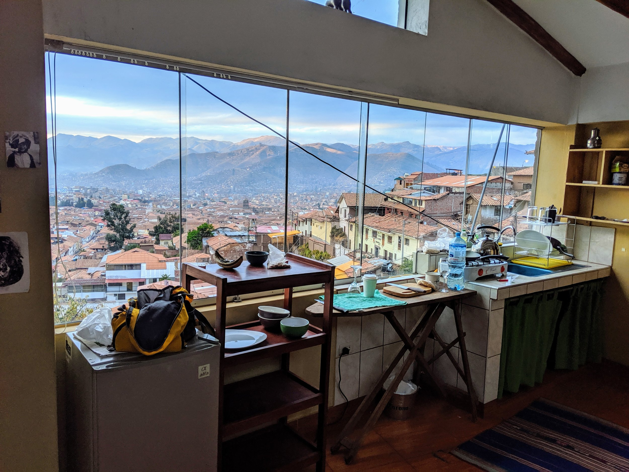 Cusco, Airbnb - Kitchen, gas heater, dinning corner, queen size bed, hot shower! 40 CAD a night by Jose Carlos