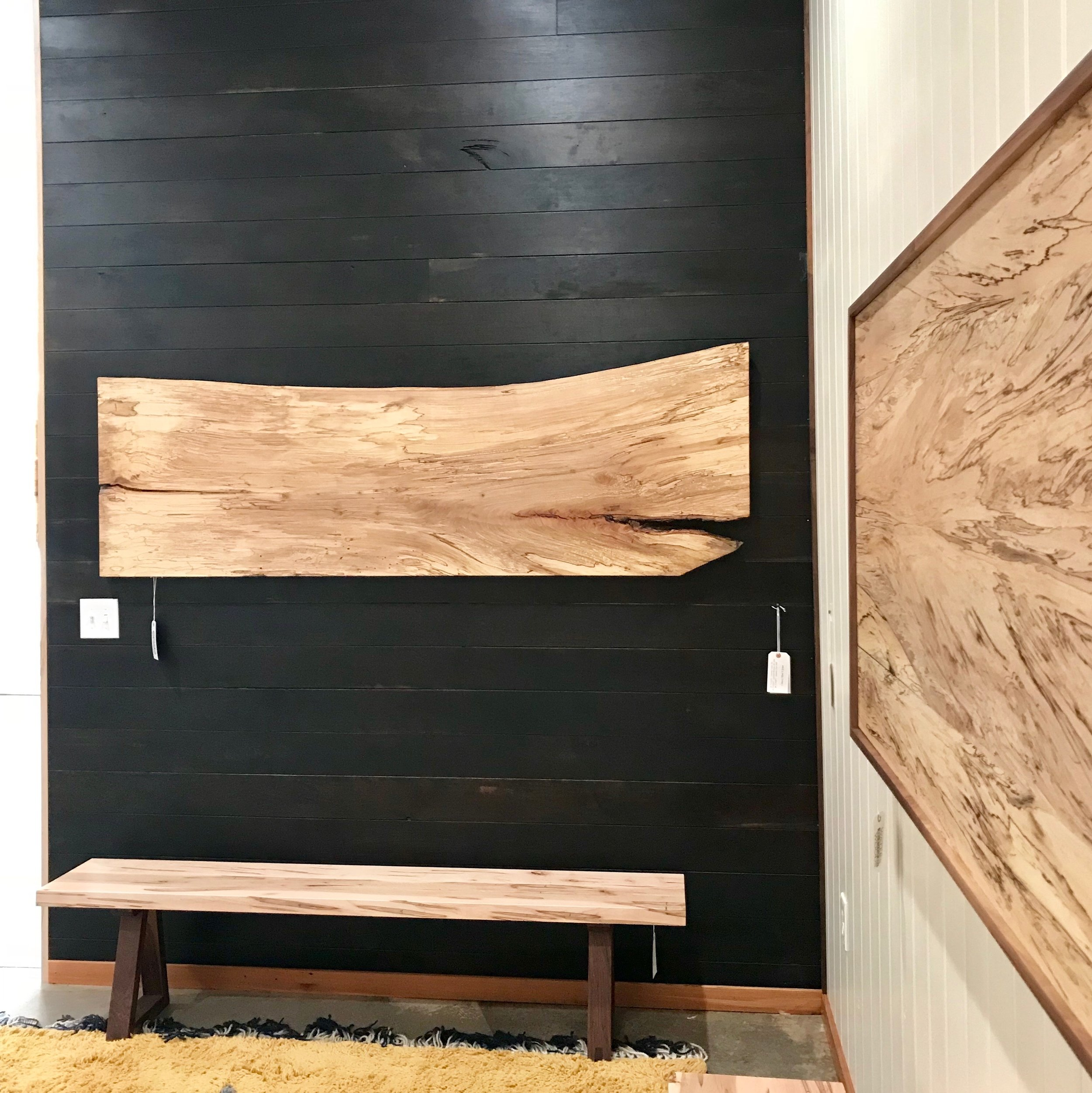 Live-Edge Floating Headboard for sale via this  link .