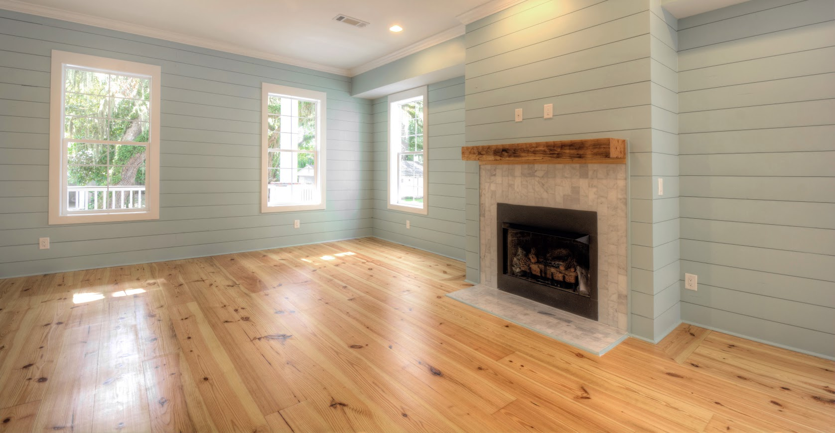 Wide Plank New Heart Pine Flooring