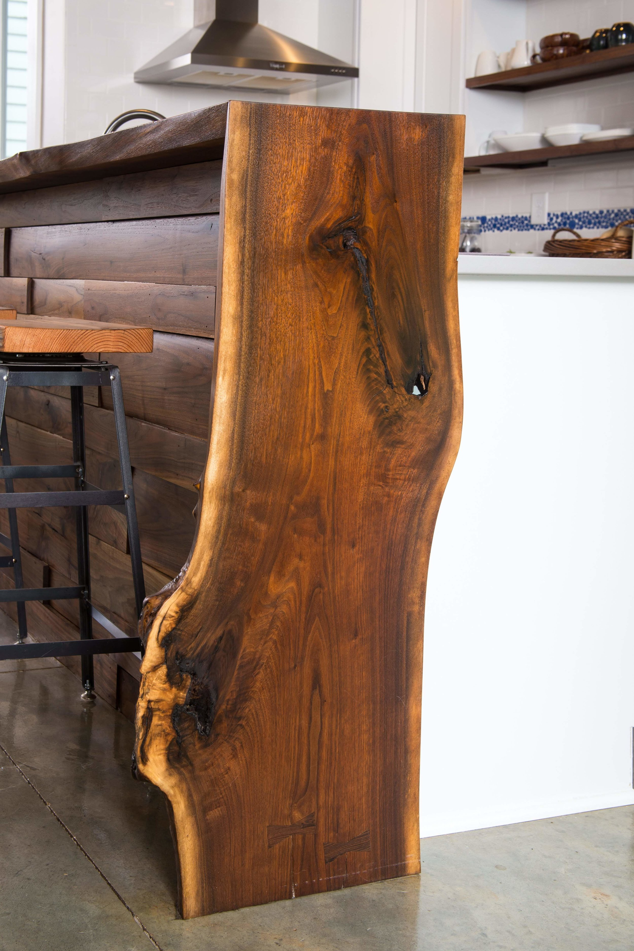 Live-edge Black Walnut with Conversion Varnish
