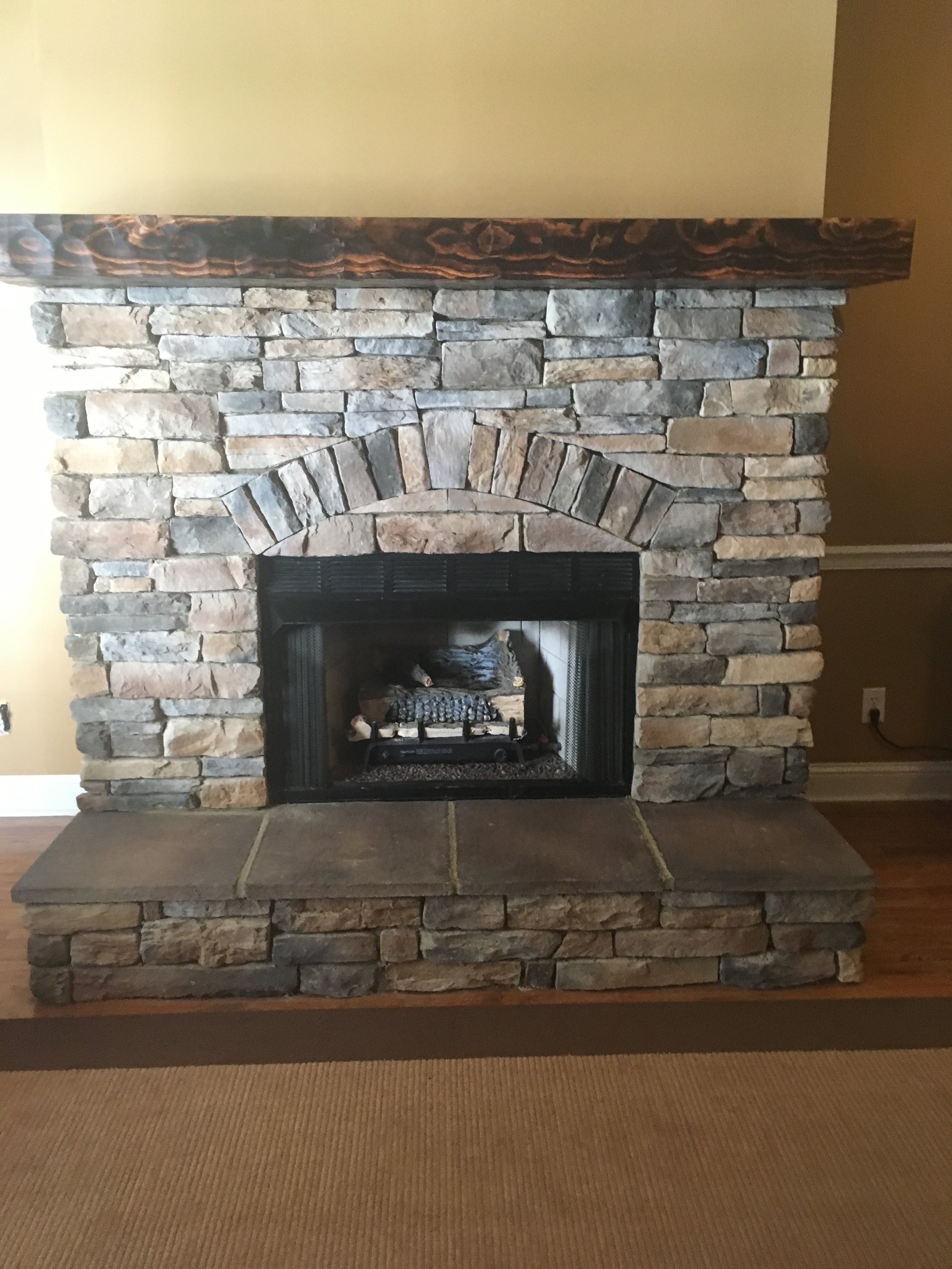 Textured and Toasted Mantel