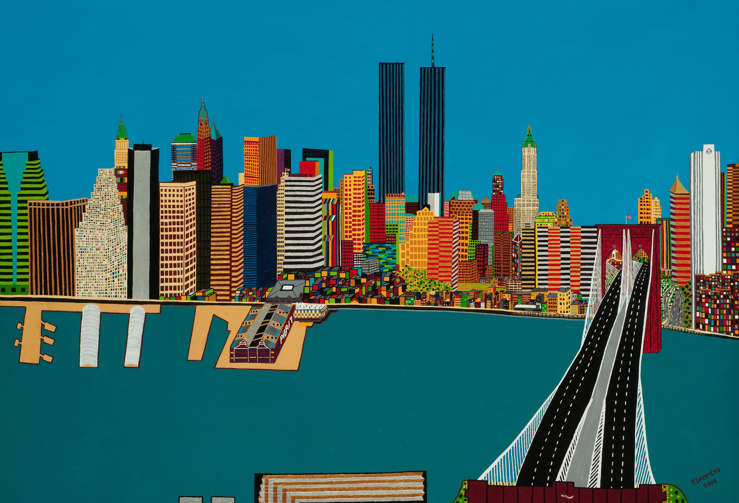 Twin Towers New York by Frank Dammers.jpg
