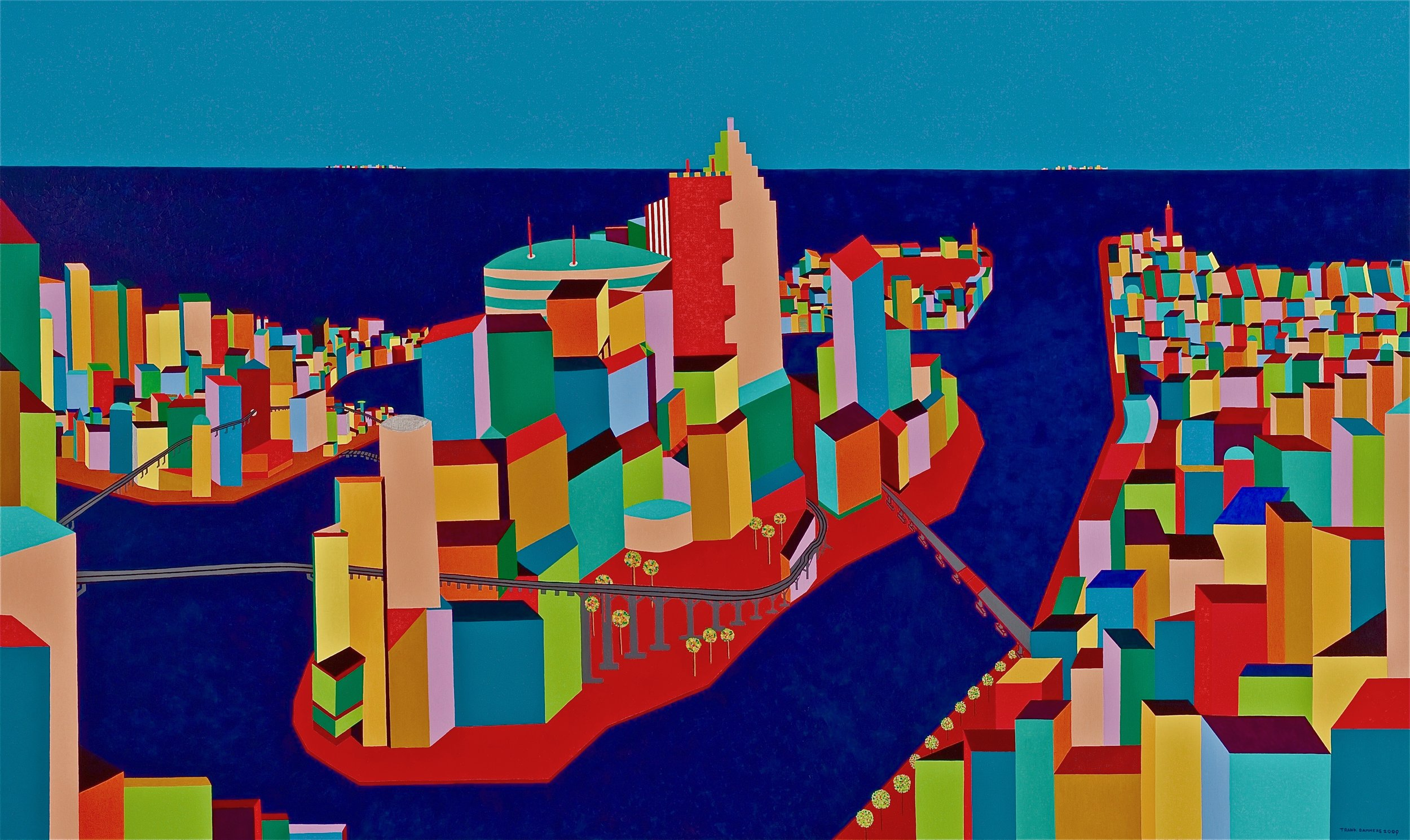 Metropolis   Metropolis, 2009, acryl / Belgian linnen 59,0 x 98,4 inch  Copyright © F.Dammers Fine Art - All rights reserved.