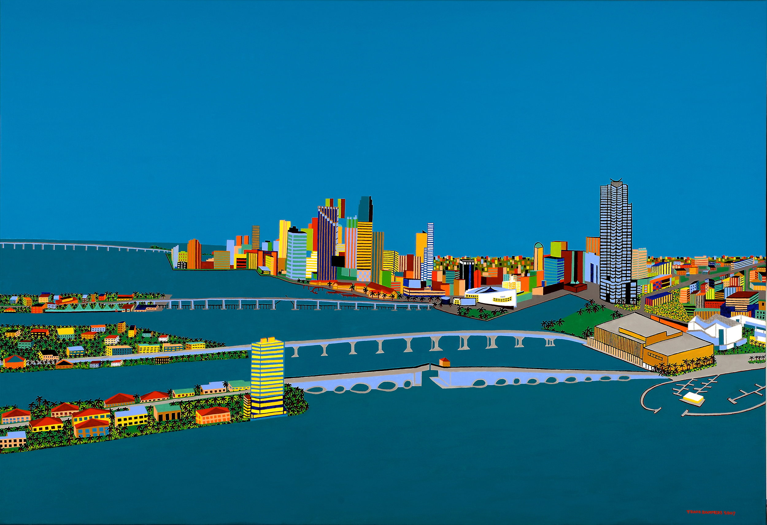 Miami Blue   Miami Blue, 2007, acryl / belgian linen, 43,3 x 63,0 inch  Copyright © F.Dammers Fine Art - All rights reserved.