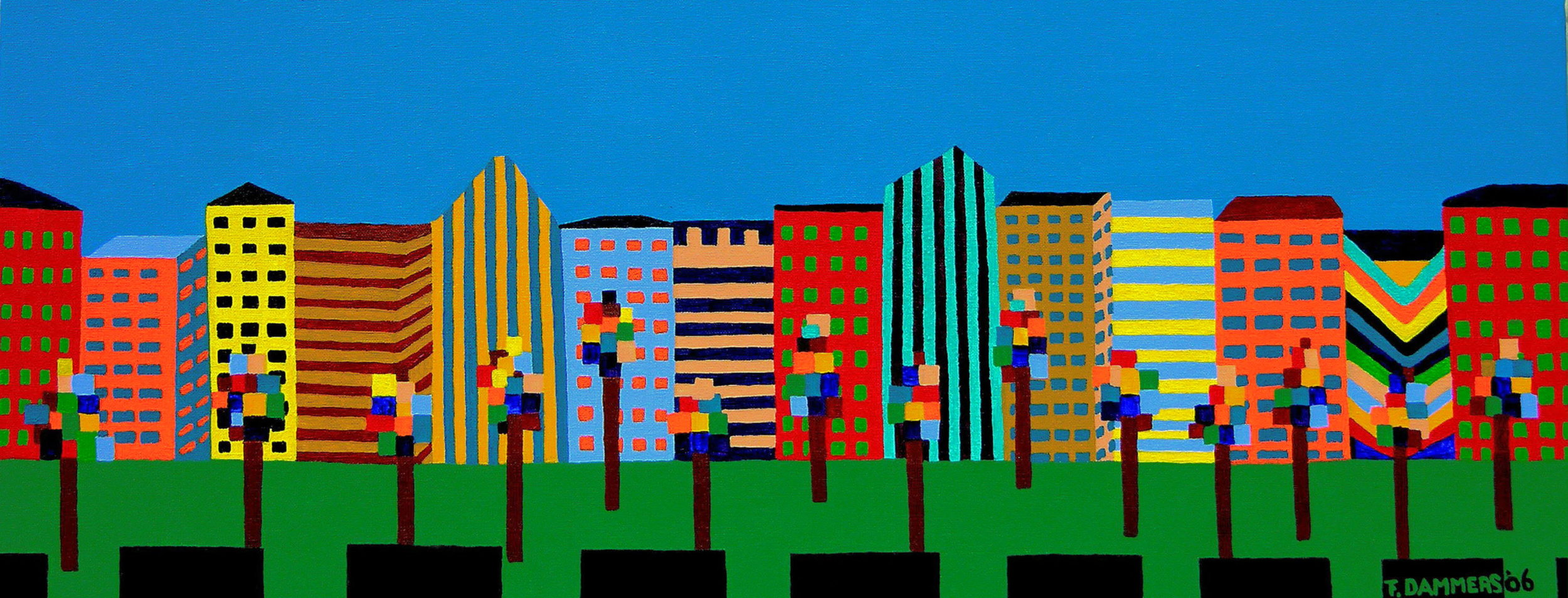 51 Street   51 Street, 2006, acryl/cotton, 7,9 x 19,7 inch  Copyright © F.Dammers Fine Art - All rights reserved.