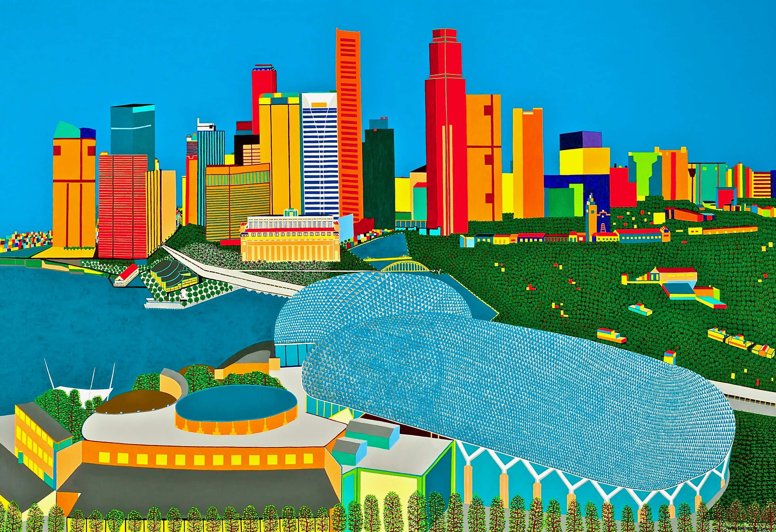 View at Singapore   View at Singapore, 2011, 43,3x 63,0 inch, acryl / Belgian linen  Copyright © F.Dammers Fine Art - All rights reserved.