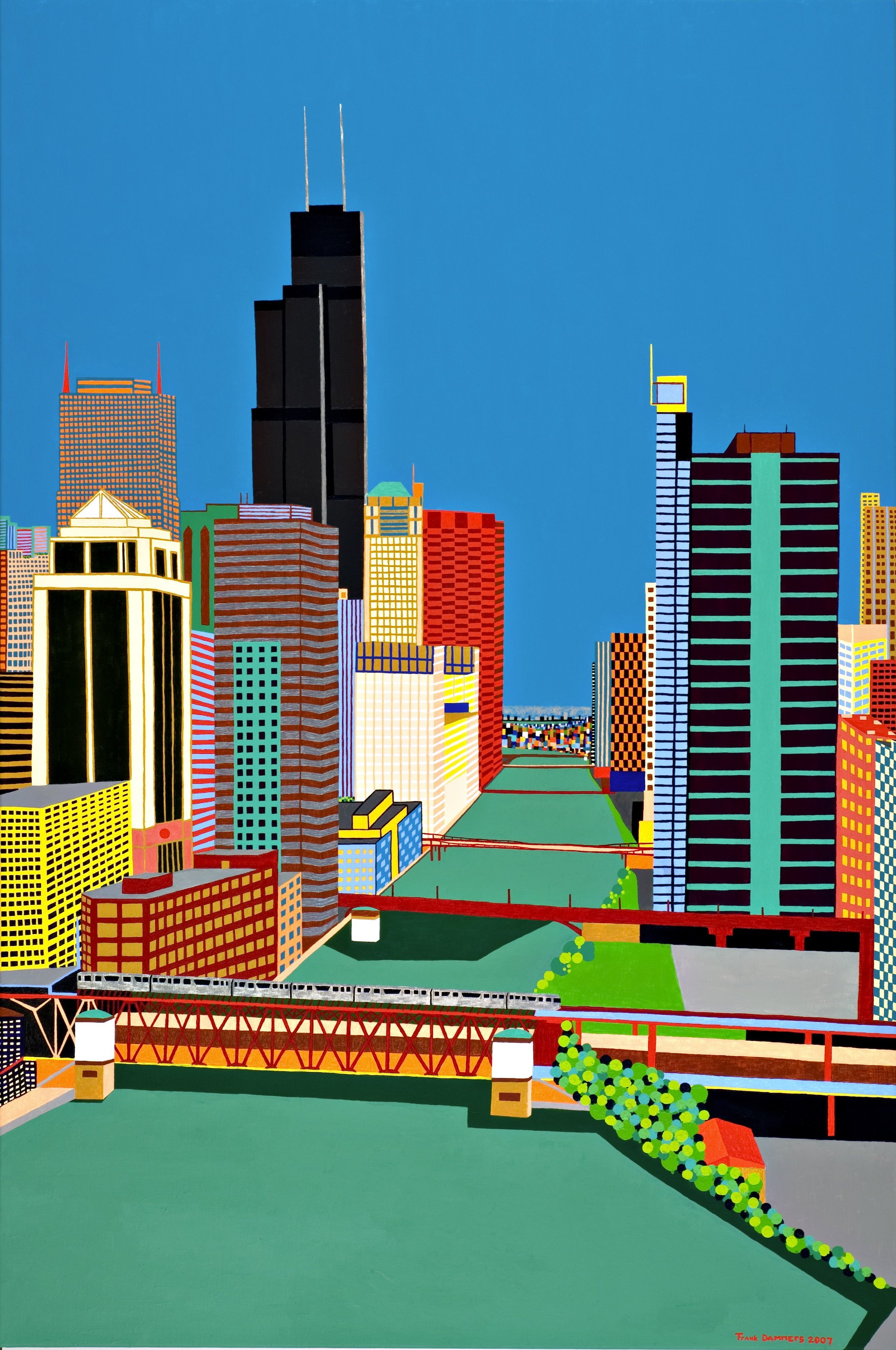 Sears Chicago   Sears Chicago, 2007, acryl / cotton, 39,4 x 59,0 inch  Copyright © F.Dammers Fine Art - All rights reserved.