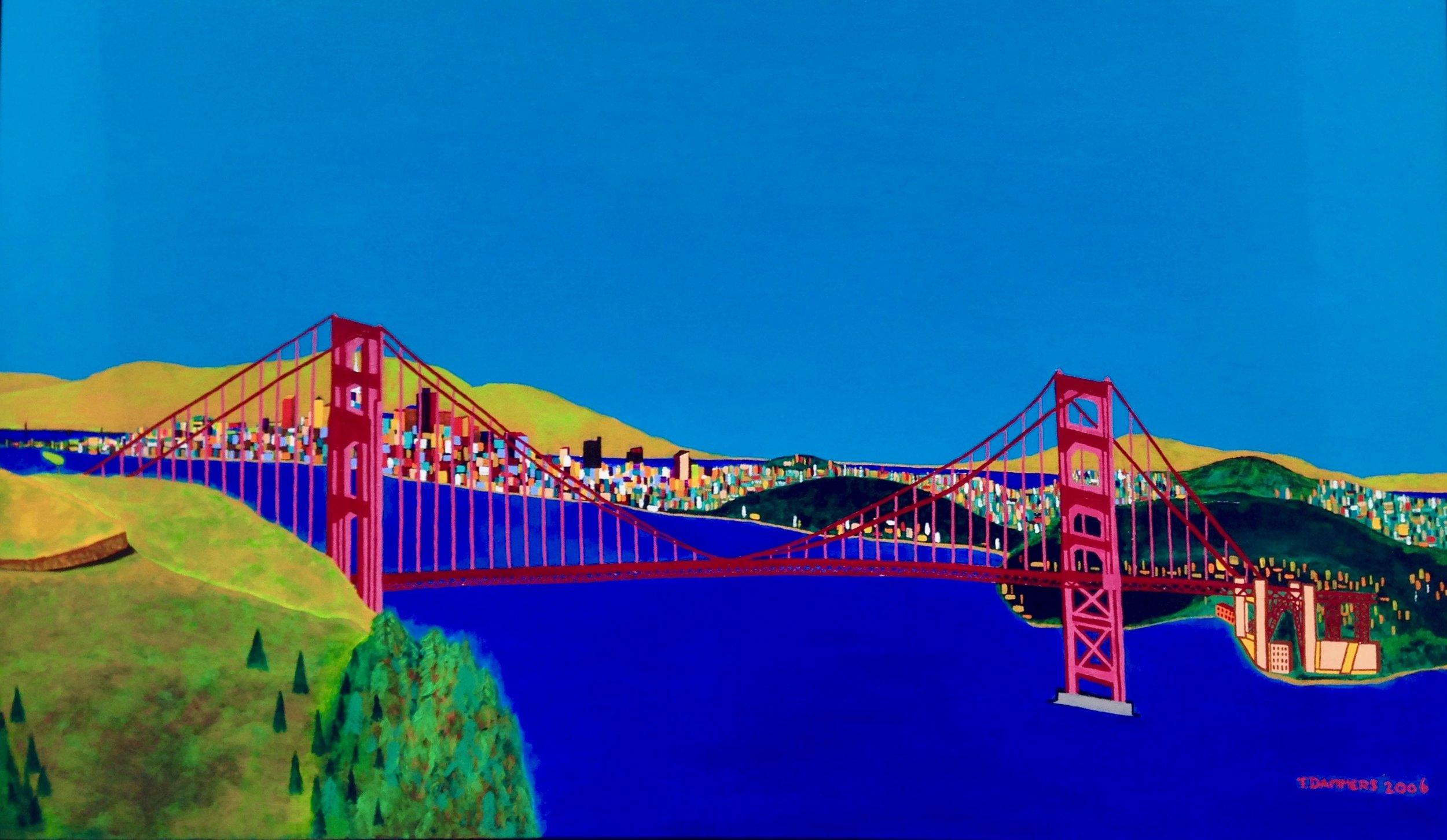 Golden Gate Bridge San Francisco   Golden Gate Bridge San Francisco, 2006, acryl/cotton, 31,5 x 47,2 inch  Copyright © F.Dammers Fine Art - All rights reserved.