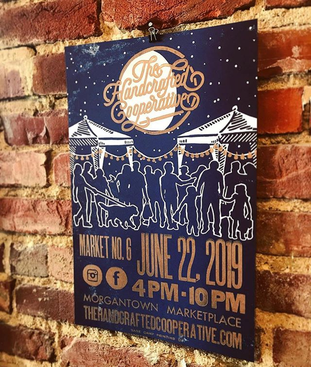 It's almost time for the @wvhandcraftedcooperative again and this time it's a NIGHT MARKET! Come see us June 22nd from 4-10 in Morgantown. We'll be live spinning if the weather cooperates 🤞🏼