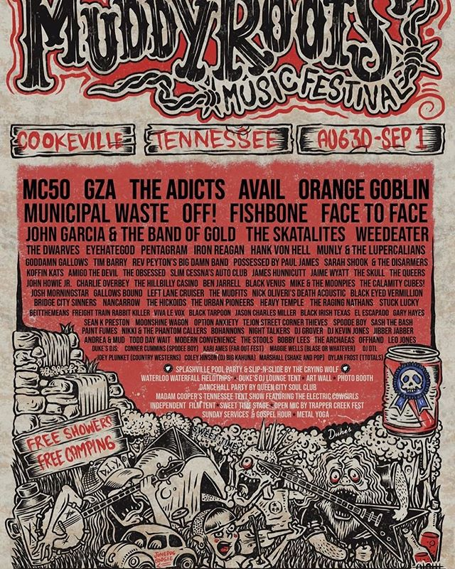 This is gonna be one helluva good time! #muddyrootsmusic #muddyrootsmusicfestival #muddyroots