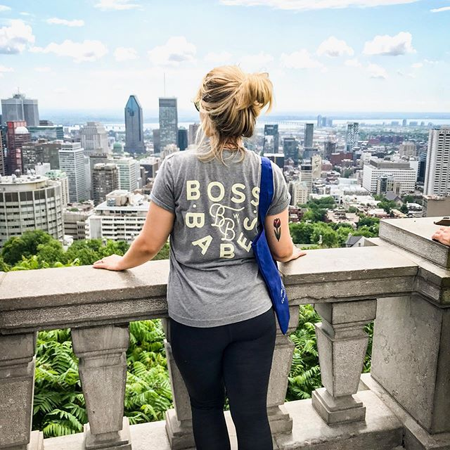 Our babe @alyanthony_ in Montreal! Send us your pics in your #bbwv shirts!! 💕💕