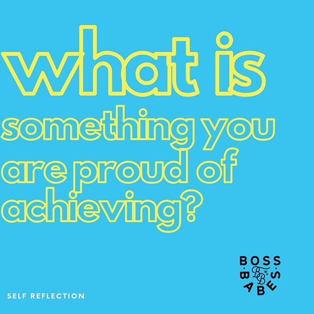 SR Tuesday! Tell us something you are proud of achieving or just think about with yourself! Self reflection builds a well-rounded person who understands themself. ✨