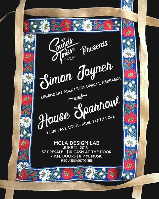 Just announced: June 14 w Simon Joyner! Oh my god! Get your presale ticket now bc this was a big one last time... . . . . . . . #intheberkshires #bands #tenorguitar #indiefolk #diymusic #diyshow #diyfolk #folkmusic #simonjoyner #shows #northadamsma #pittsfield #synth #guitar #showannouncement #fun #musicband #mamusic #igers413