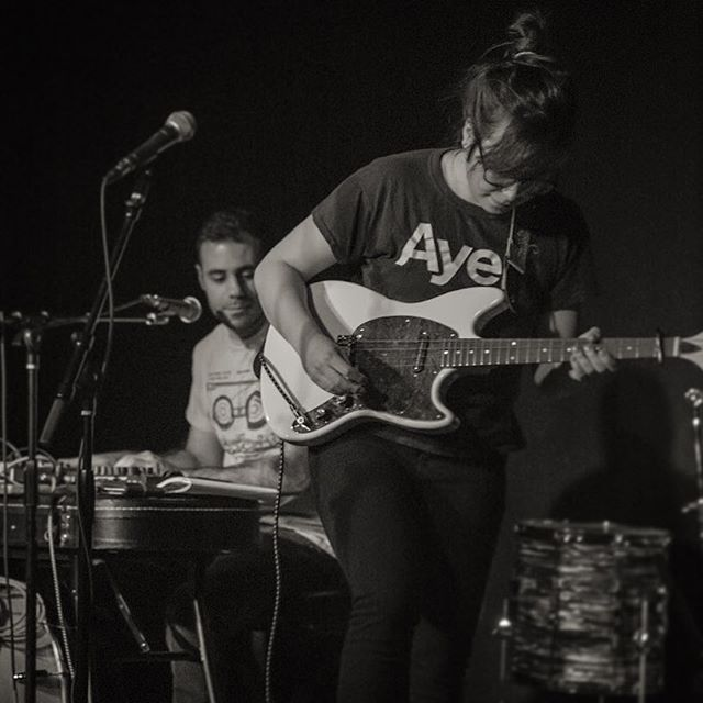 Photo from @as220providence last month...We are out again this week: 4/12 @radiobean #burlingtonvt / 4/13 in #plattsburgh for secret show / 4/14 in #newpaltz @bacchusnewpaltz come and say hi! 🥚💎 . . . . #diymusic #indiefolk #synths #tenorguitar #eastwood #microkorg #livemusic #duoband #nysmusic #vtmusic #berkshires #igers413 #hudsonvalley #upstatenewyork #newyorkmusic #indiemusic #indiebands #tour #touringband #diytour #diyordie @womenthatrock #womenthatrock