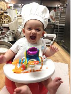 Grandson Michael Ryan at VG Donut & Bakery -- 2014