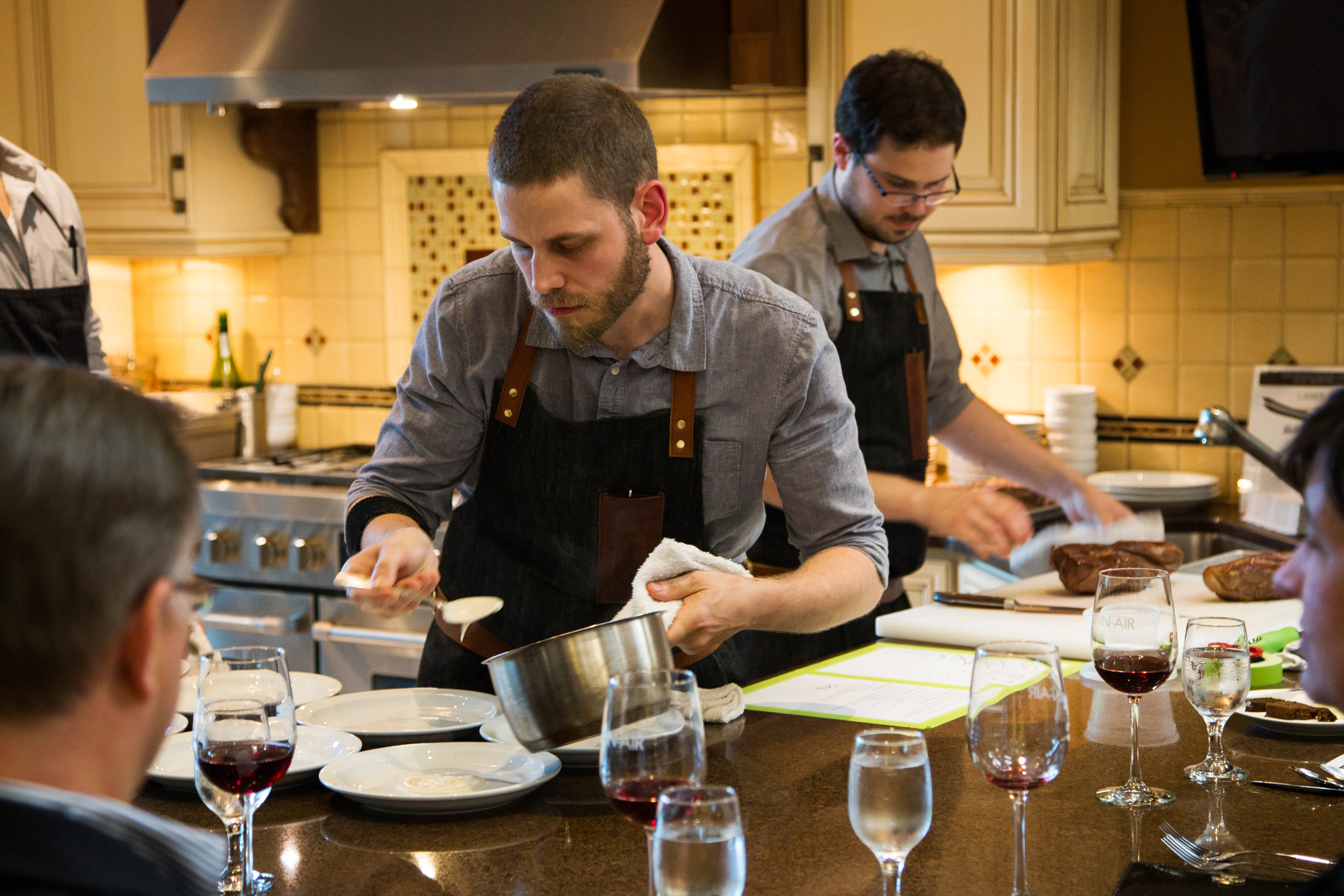 Will and Joel of Holdfast Dining at an In the Kitchen event.