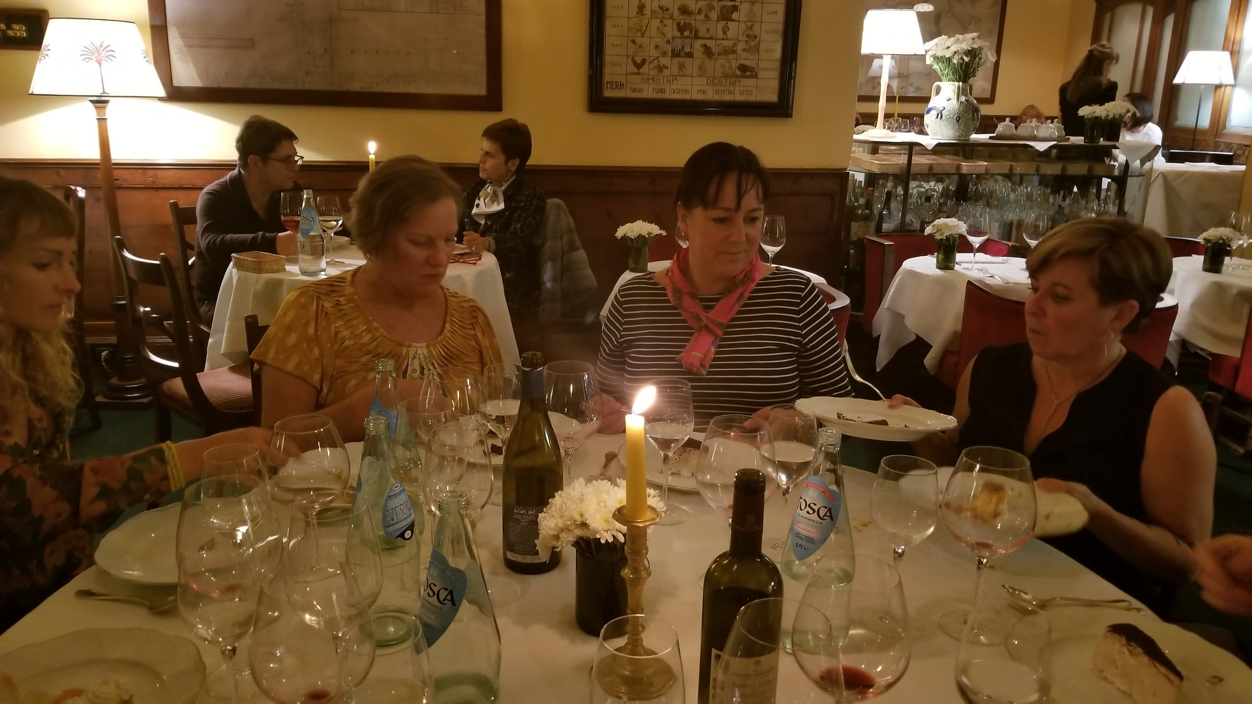 We each tasted 44 different things during our opening dinner in Florence