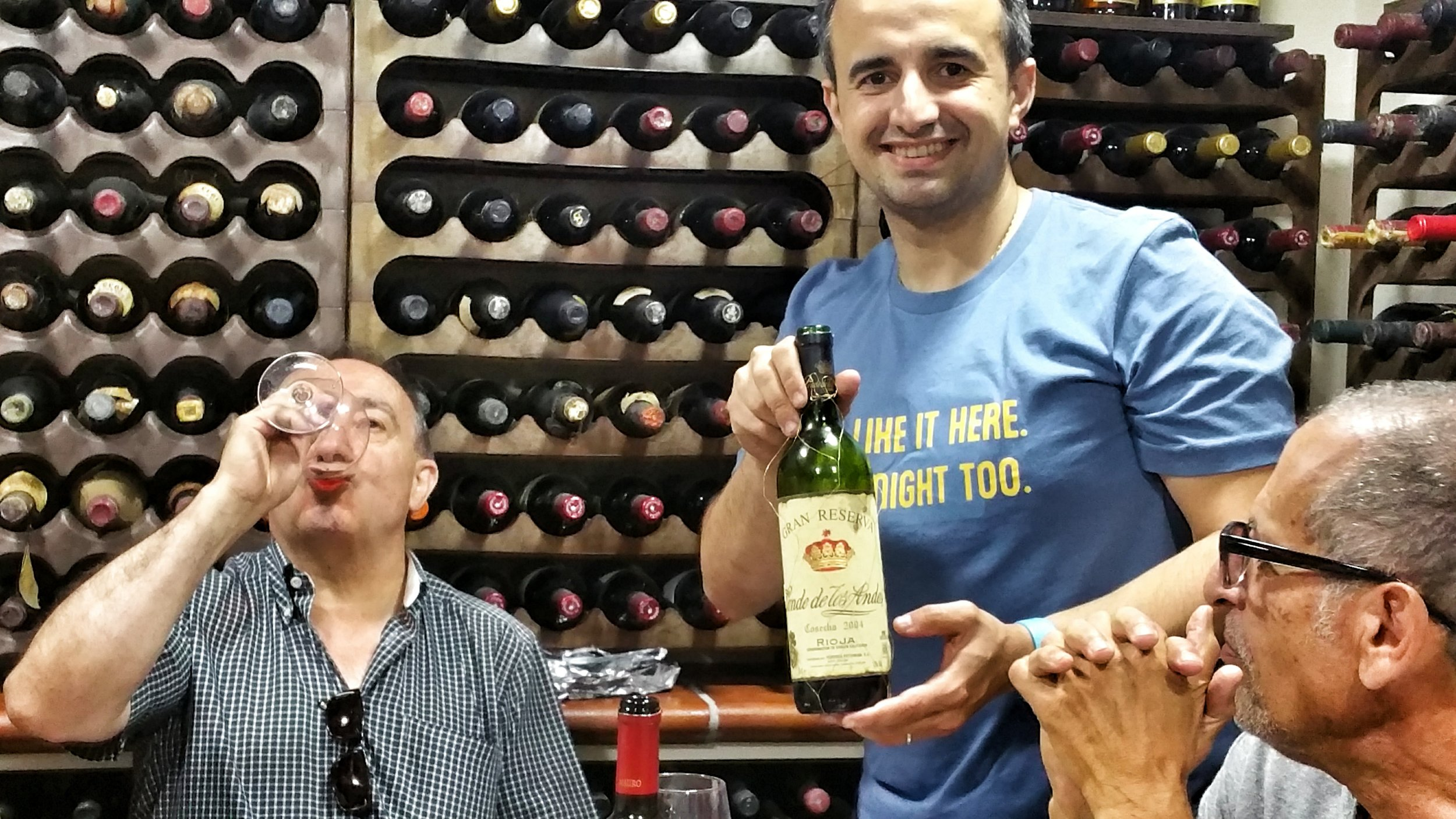 At the Chesa family wine cellar in Spain
