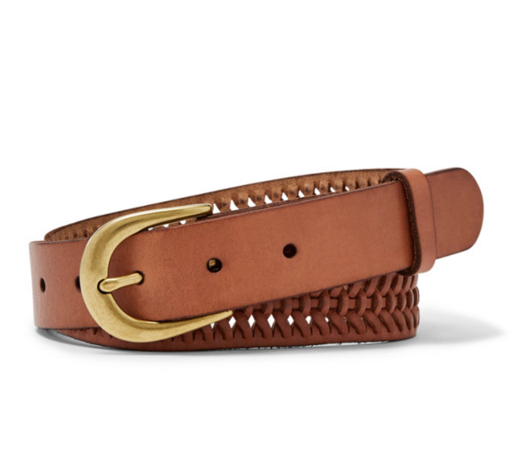 Fossil Perforated Belt, $42