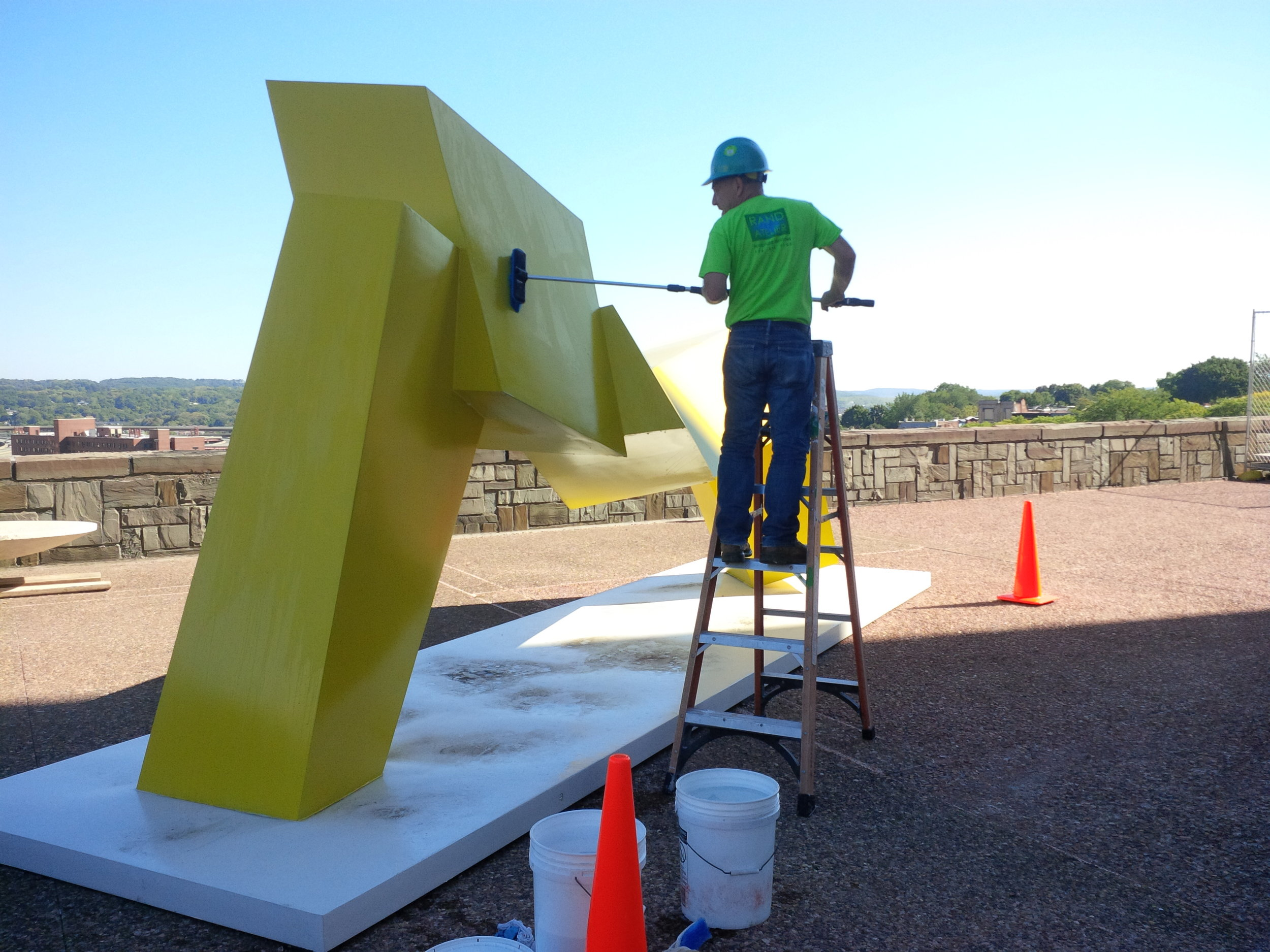 Care and Maintenance - A conservation-minded, custom maintenance plan is made by Monumenta's staff for each artwork based on need and material type. Work is undertaken by trained Conservation Technicians following all pertinent safety protocols.