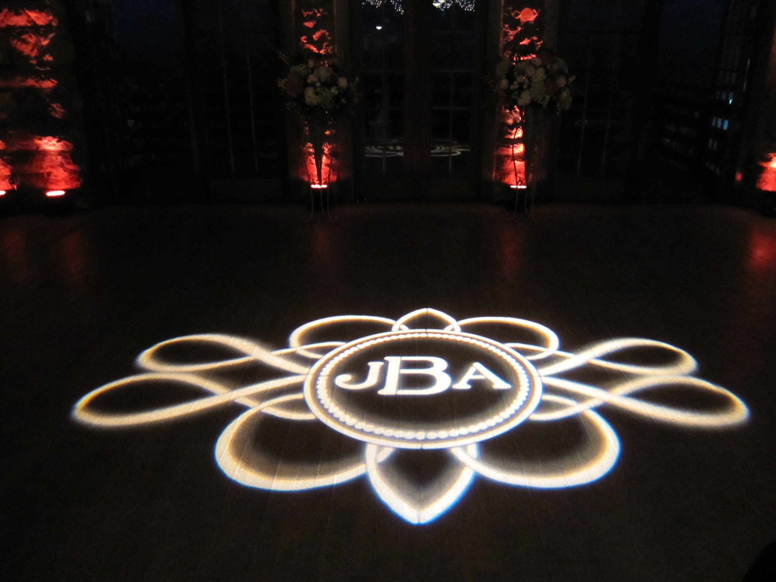 Floor monogram light at The Towers