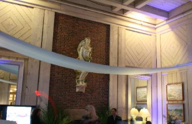 Ceiling drapery at The Dunes Club, Narragansett