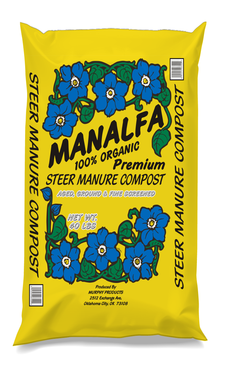 Manalfa Steer Manure Compost - Manure is a natural food source for microbes that provide nutrients. High temperature composting kills weed seeds, pests, and plant disease killing pathogens, leaving nitrogen rich plant food.