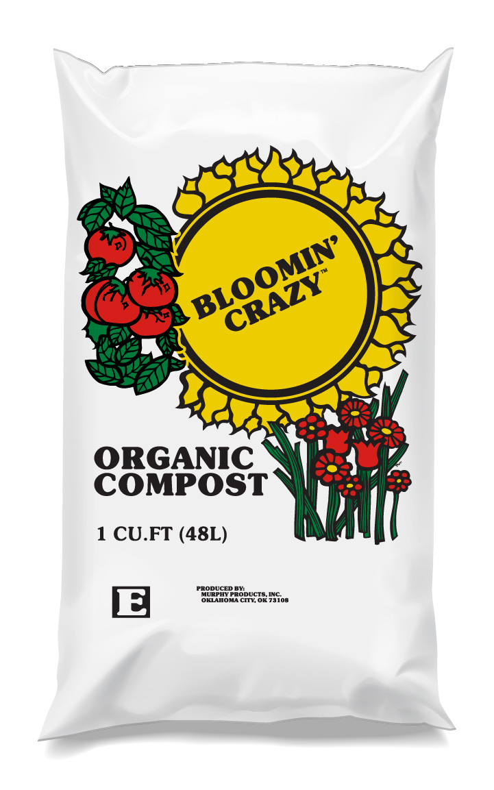 Bloomin' Crazy Organic Compost - This Organic Compost is aged at high temperatures to eliminate unwanted seeds and insects while providing a stable, nutrient rich product. Our aging process reduces unpleasant odors and related issues associated with the use of raw organic materials.