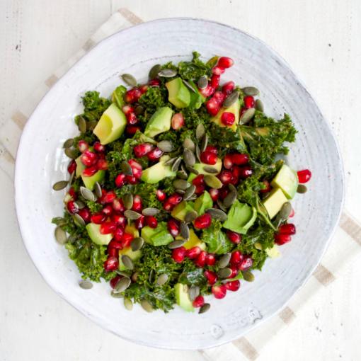 Deliciously Ella's Marinated Kale Salad... trust me, it's SO good!