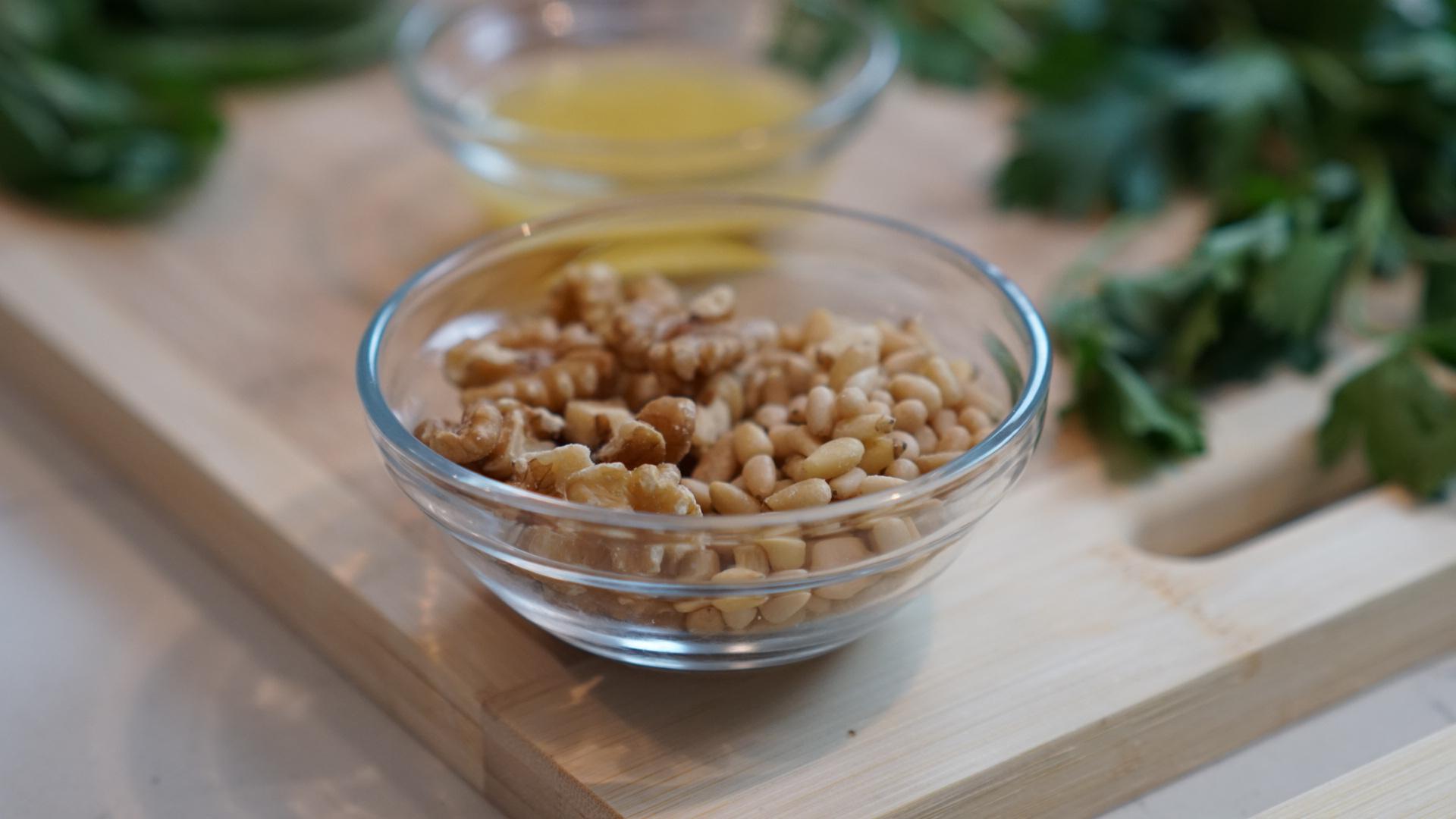 Walnuts and pine nuts